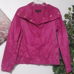 TALBOTS Fuchsia Zipped Jacket